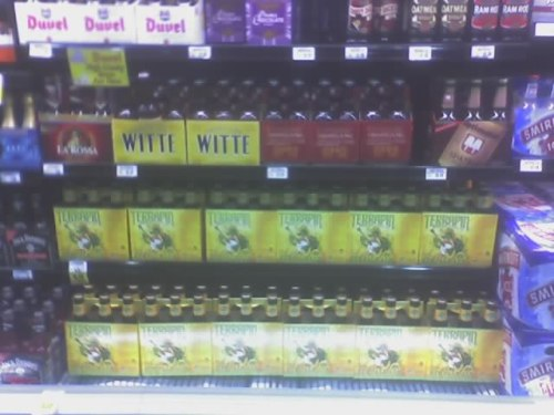 Finally in bottles! Nice set at Kroger Alps in Athens.